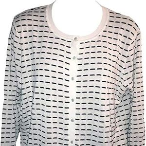 Cable & Gauge Button Front Cardigan Sweater NWT